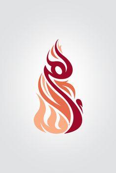 "Arabic word ""Lahab - لهب"" (Flame in English). Designed By Mahera  Housn"