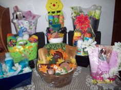 Some of the gift baskets I made up using Avon Products. I can make Special orders - just let me know what you would like in yours. Contact me at: baulekeavon@gmail.com