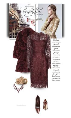 """No beauty shines brighter than that of a good heart"" by blonde-bedu ❤ liked on Polyvore featuring Bellissima, Rochas, Dolce&Gabbana, Oscar de la Renta, Sergio Rossi, women's clothing, women, female, woman and misses"