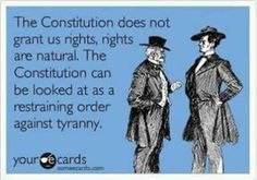 The Constitution = A restraining order against tyranny.  Why is it that SO many people - Americans, don't understand this?