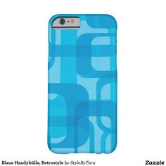 Blaue Handyhülle, Retrostyle Barely There iPhone 6 Hülle