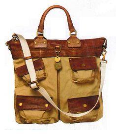 Safari bag - Ralph Lauren. NICE!  Would be fabulous on safari.