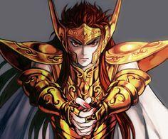 Aquarius no Camus - Saint Seiya. He's getting ready to do Aurora Execution!  Watch out, Bad guys!