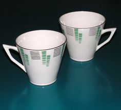 Bone china cups - made in England