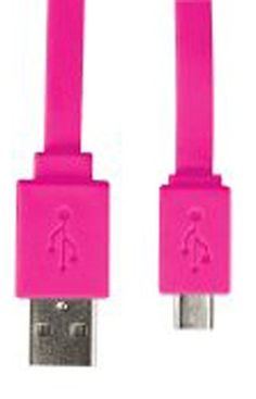 """myLife Hot Pink {Solid Flat Noodle Design} 6' Feet (1.8 Meter) Quick Charge USB 2.0 Micro USB to USB Data Sync Cord for Phones, Cameras, Tablets and GPS Devices """"SEE COMPATIBILITY"""" (Durable Rubber Coat) myLife Brand Products http://www.amazon.com/dp/B00O99SZ50/ref=cm_sw_r_pi_dp_Kv.tub1HWCEGW"""