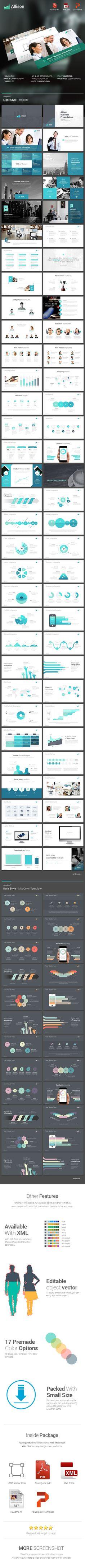 Allison - Creative Powerpoint Template #design #slides Buy Now: http://graphicriver.net/item/allison-creative-powerpoint-template/12925875?ref=ksioks