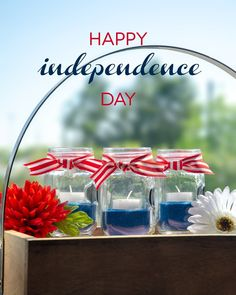 Happy Independence Day from all of us at Yummi Candles Tea Light Candles, Tea Lights, Happy Independence Day, Red White Blue, Fourth Of July, Wedding, Instagram, Valentines Day Weddings, Weddings