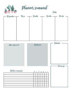 Agenda Planner, Study Planner, Planner Pages, Bullet Journal Banner, Bullet Journal School, Planner Template, Printable Planner, Week Planer, Calendar Organization