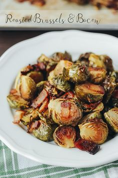 roasted brussels sprouts bacon via barerootgirl.com