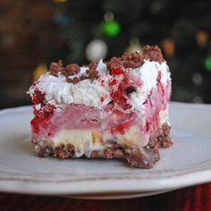 Raspberry frozen dessert