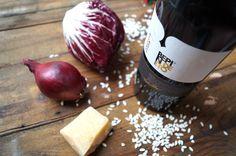 Rotwein Risotto mit Radicchio und Parmigiano. Ein feines Rezept. Hier der Link: http://www.cookingitaly.de/recipe-items/risotto-al-vino-rosso-rotwein-risotto/