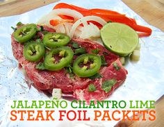 Lemon Herb Steak Foil Packet Summer Grilling Recipe @Jill Parkin { Sandy Toes & Popsicles } #myhttender #verytender