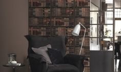 Contemporary Wallpaper, pattern number from the KOSMOS range. Home Modern, Contemporary Wallpaper, Innovation Design, Decoration, Bookcase, Shelves, Flooring, Interior Design, Inspiration