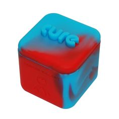 1 Blue and Red Non-stick Shatter Concentrate Silicone Cure Cubes Jar Container ** Click image for more details.