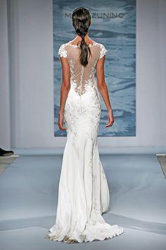 Mark Zunino bridal collection 2015. Backless Wedding dress.