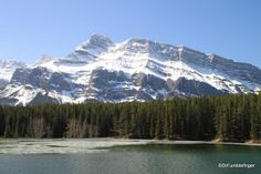 Mt. Rundle viewed from Johnson Lake Trail,  Banff National Park