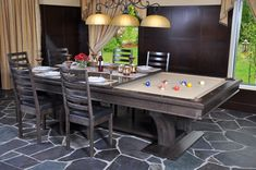 """This is sucha cool idea,pool table and dining table all in one www.LiquorList.com  @LiquorListcom  #liquorlist  """"The MarketPlace for Adults with Taste!"""""""