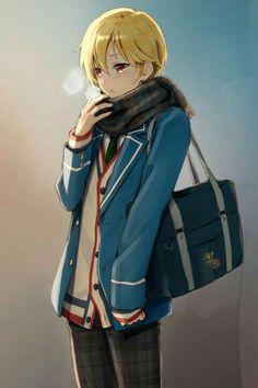 :o bag blazer blonde_hair blush breath buttons cowboy_shot ensemble_stars! :o bag blazer blonde_hair blush breath buttons cowboy_shot ensemble_stars! gradient gradient_background highres irimo-m long_sleeves male_focus n. Manga Anime, Anime Art, Red Plaid Scarf, Plaid Pants, Anime Uniform, Blonde Boys, Blonde Hair Anime Boy, Handsome Anime, Cute Anime Guys