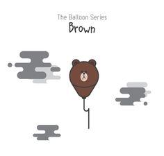 The Balloon Series - Brown (Line)