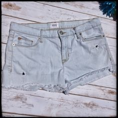 {Hudson} Cutoff Fringe Shorts Super cute white wash Cut Off Fringe Hudson shorts. Totally festival worthy NOTE tiny spot near left pocket, so faint the camera hardly picks it up. No really noticeable at all but wanted to mention itTrades PP Hudson Jeans Shorts Jean Shorts