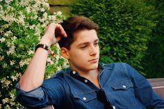 Finn Harries... practicing his modeling poses ;)