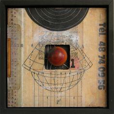 Graceann Warn. Distance and Observation 5. MIxed-Media Wall Art