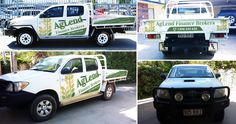 Creative Car Signage for Finance Company work ute by syngar89