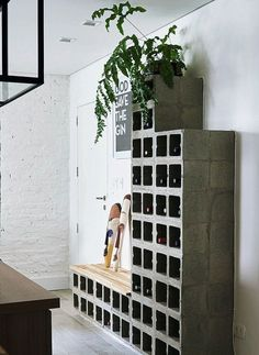 spectacular DIY projects to decorate your home . - spectacular DIY projects to decorate your home … - Industrial Interior Design, Industrial Interiors, Cinder Block Furniture, Decorating Your Home, Diy Home Decor, Wine House, Diy Casa, Metal Tree Wall Art, House Entrance
