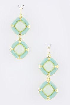 Geo Mint Earrings at www.TheShoppingBagStore.com We Ship Worldwide!  #earrings #mint #fashion