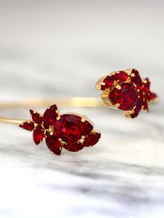 Ruby Bridal Bracelet Red Ruby Crystal Bracelet Swarovski Ruby Bracelet, Swarovski Bracelet, Bridal Bracelet, Crystal Bracelets, Bridal Earrings, Bridal Jewelry, Swarovski Crystals, Ruby Earrings, Jewelry Bracelets