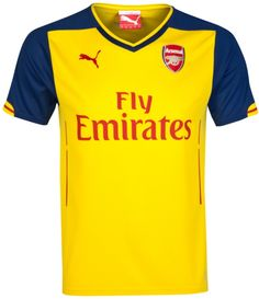 Shop for the Arsenal Kids (Boys Youth) Away Football Jersey for 2014 - 2015 at Soccer Box. Premier League Printing and Patches Option Available! Soccer Shop, Soccer Kits, Football Kits, Football Jerseys, Football Players, Arsenal Soccer, Arsenal Jersey, Arsenal Kit, Training Kit