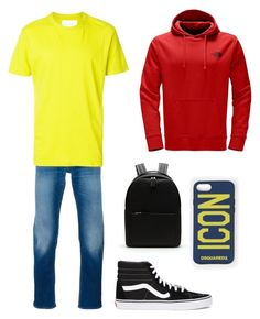 """Liam 1"" by pokemonfan701 on Polyvore featuring STONE ISLAND, Our Legacy, The North Face, Vans, Lacoste, Dsquared2, men's fashion and menswear"