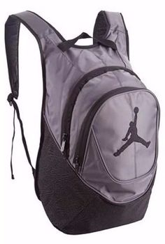 f3b6891e384 Nike Air Jordan Ele-mentary Backpack for 15 Laptop in Black and Gray  Elephant