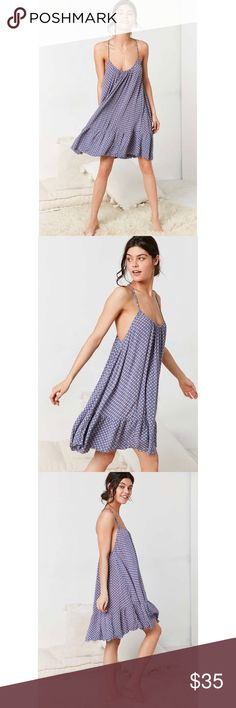 Printed Gauze Deess Super comfortable! In perfect condition! Urban Outfitters Dresses Midi