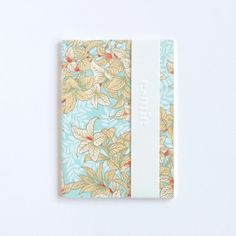 Mini japanese floral notebook - blue & gold