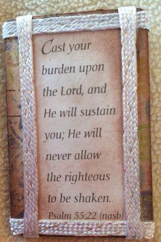 Altered Magnet Scripture Verse Encouragement Friendship Home Decor Gift