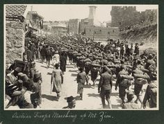Austrian troops marching up Mt. Zion, 1916. LC-DIG-ppmsca-13709-00084 (digital file from original on page 23, no.83) | Library of Congress