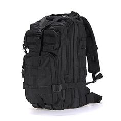 OUTERDO Military Tactical Rucksacks Backpack Camping Hiking Trekking Outdoor Sport Bag 30L 600D Nylon Multicolor Black OUTERDO