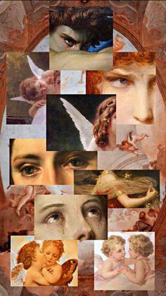 Trippy Wallpaper, Aesthetic Desktop Wallpaper, Iphone Background Wallpaper, Retro Wallpaper, Aesthetic Backgrounds, Aesthetic Painting, Aesthetic Collage, Rennaissance Art, Arte Van Gogh