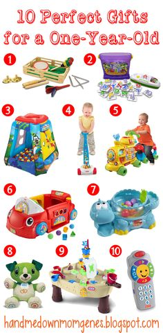 Hand Me Down Mom Genes: 10 Perfect Gifts for a One-Year-Old from BRT