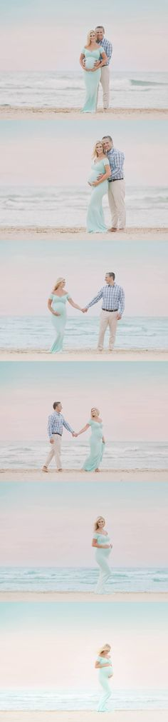 Love the dress beach pregnancy photos, beach pregnancy announcement, cute pregnancy