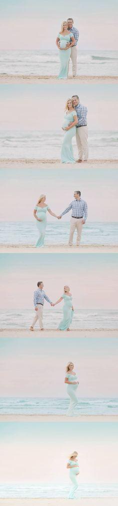 Maternity photos. Love the dress