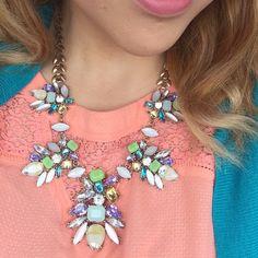 Purple necklace Geurgous necklace Hwl boutique Jewelry Necklaces