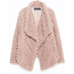 Zara Soft Faux Fur Jacket ($49) ❤ liked on Polyvore featuring outerwear, jackets, coats, abrigo, pale pink, zara jacket, lined jacket, pink jacket, fake fur jacket and faux fur jacket
