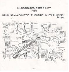 Yamaha sa 20 sa 30 sa 50 sa 70 wiring diagram page 16 of 1979 parts sa 20 yamaha guitar booklet page 13 illustrated cheapraybanclubmaster Image collections