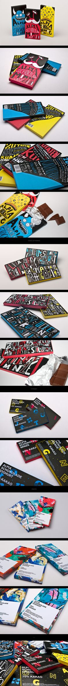 Alpia Chocolate by Tobias Saul. Who wouldn't like this cute chocolate packaging PD