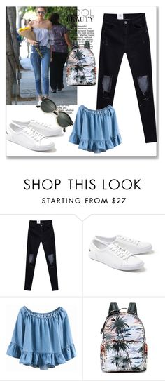 """Outfit"" by lululafitte on Polyvore featuring moda, Lacoste, Valentino y Ray-Ban"