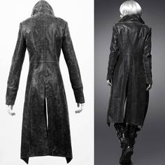 Full Length Gothic style Leather Coats Women | Cool Women Black ...