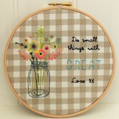 Small Things Great Love Hand Embroidery Pattern by BustleandSew