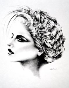 ART :: Graphite Pencil Original Portrait Drawing by StudioHK